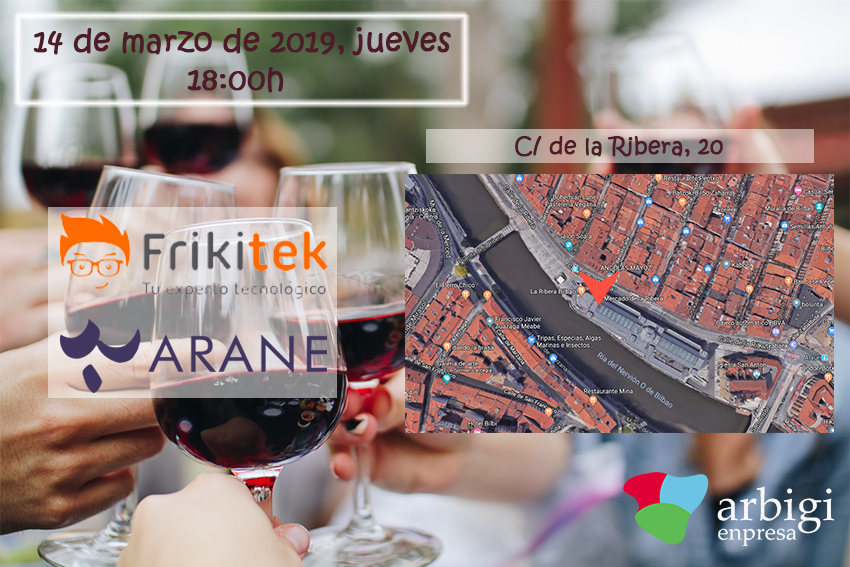 Presentación de Frikitek y Bodegas Arane en el Mercado de la Ribera