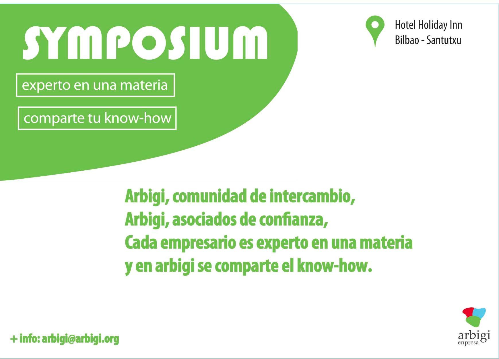 Symposium – comparte tu know how